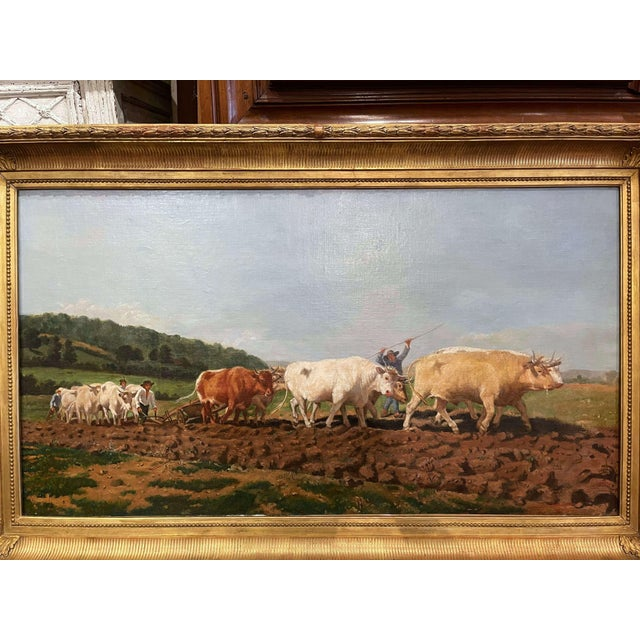 This beautifully executed oil on canvas was painted in France, circa 1870. Set in the original carved gilt frame, the...