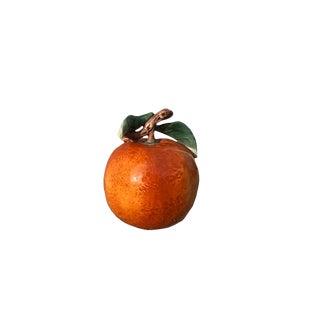 Vintage Mid Century Ceramic Painted Orange Objet d'Art For Sale