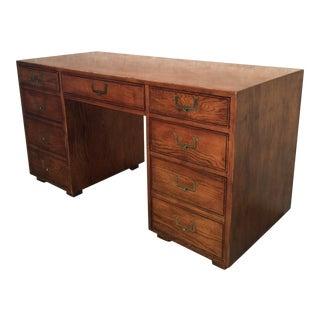 1970s Campaign Henredon Artefacts Partner Desk For Sale