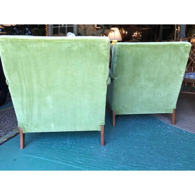 Textile Vintage French Regency Bergere Chairs-A Pair For Sale - Image 7 of 13