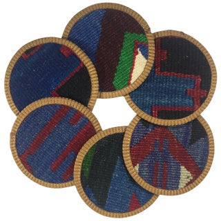 Kilim Coasters Set of 6 | Küme For Sale