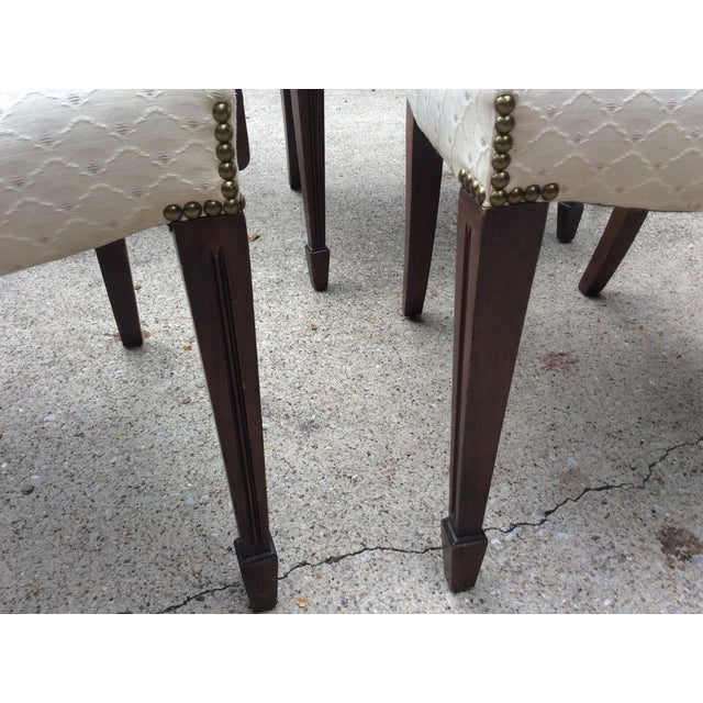 Hepplewhite Mahogany Shield Back Dining Chairs-S/6 - Image 9 of 10