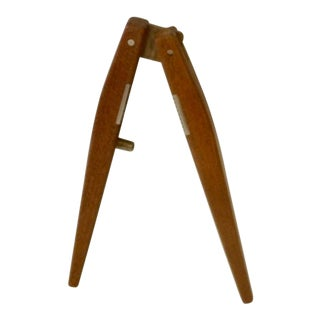 Poul Knudsen Teak with Brass Nut Cracker For Sale