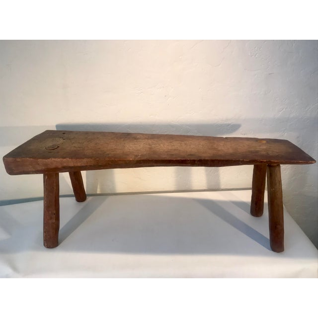Antique Primitive Live Edge Coffee Table For Sale - Image 11 of 11