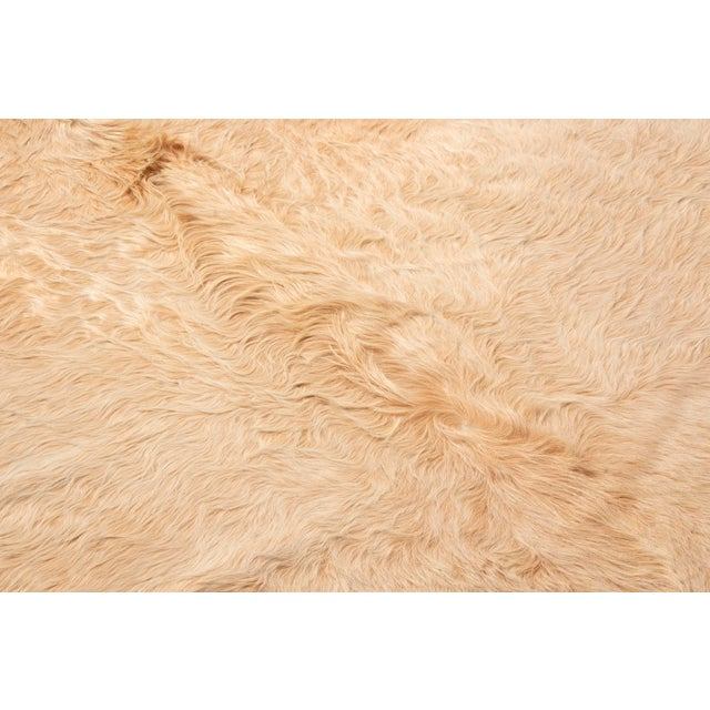 2010s Beige Long Hair Large Cowhide Rug - 8′ × 8′11″ For Sale - Image 5 of 7