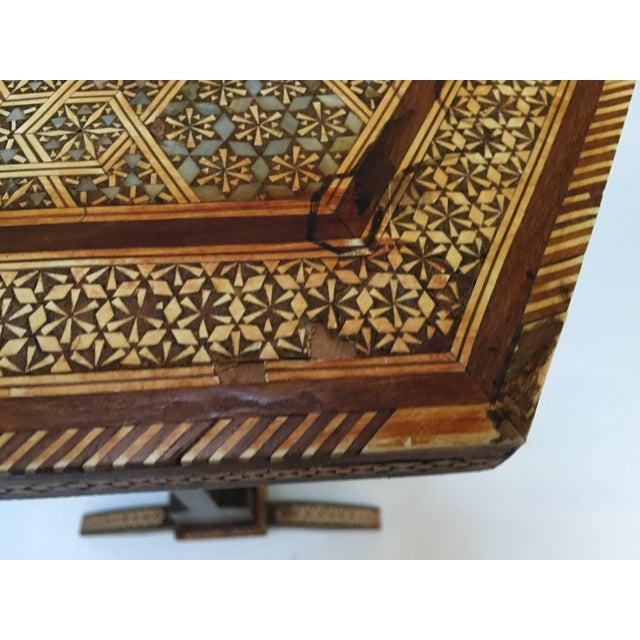 Egyptian Octagonal Side Tilt-Top Table For Sale - Image 4 of 10