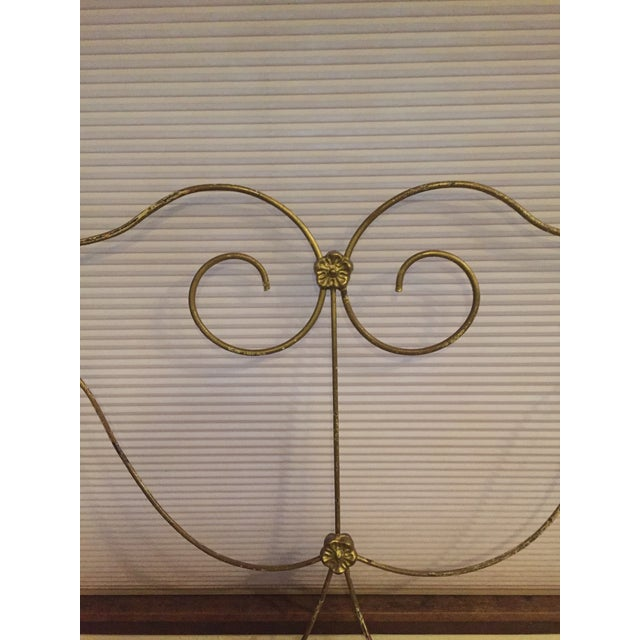Victorian Antique Victorian Full Iron Bed Headboard and Footboard - 2 Pieces For Sale - Image 3 of 8