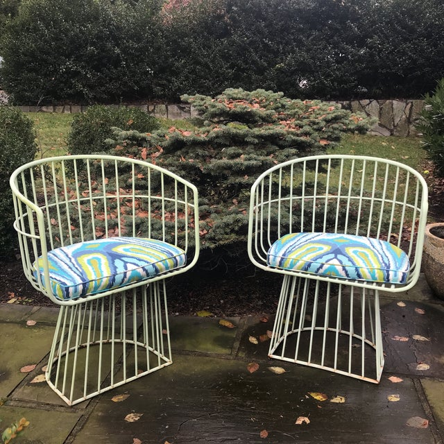 Mid-Century Indoor Outdoor Trina Turk Chairs - a Pair - Image 9 of 9