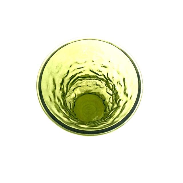 Vintage Textured Green Glass Vase - Image 5 of 5