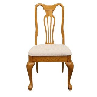 Late 20th Century Vintage Keller Furniture Oak Side Chair For Sale