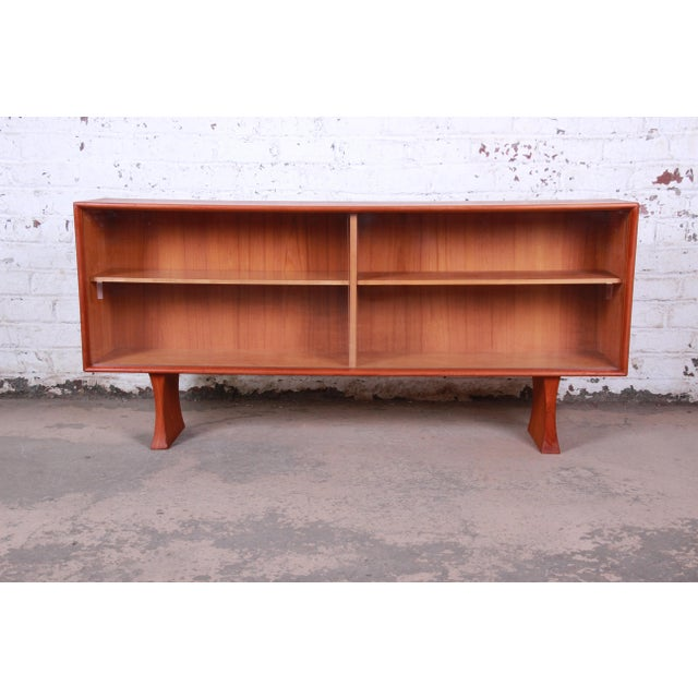 Danish Modern Teak Glass Front Credenza or Bookcase For Sale - Image 12 of 12