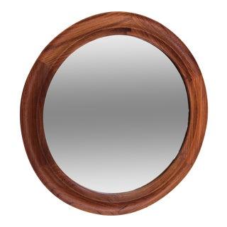Danish Modern Teak Circular Mirror