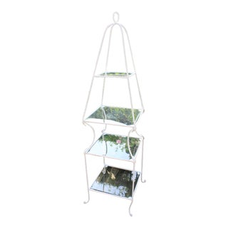 Vintage Italian 4-Tier Rope Etagere For Sale