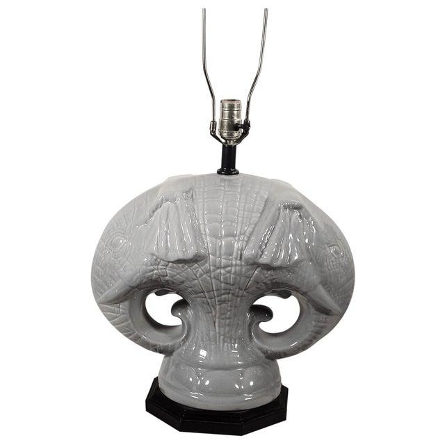 Elephant Head Table Lamp - Image 1 of 4