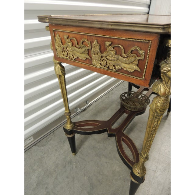 1920s Vintage Reproduction of Louis XVI Style Center Table For Sale - Image 5 of 10