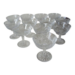 1990s Waterford Crystal Champagne Coupes - Set of 12 For Sale
