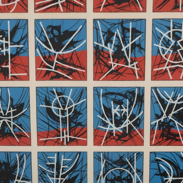 Mid-Century Modernist Screenprint by Jimmy Ernst Untitled For Sale - Image 9 of 11