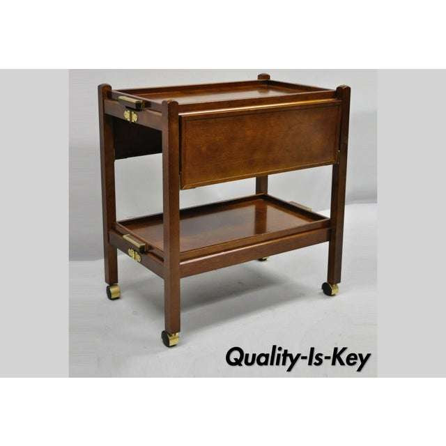 The Bombay Company Modern Rolling Folding Bar Cart For Sale - Image 13 of 13