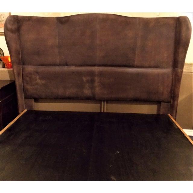 Dax King Size Leather Platform Bedframe by Taracea For Sale In Denver - Image 6 of 6