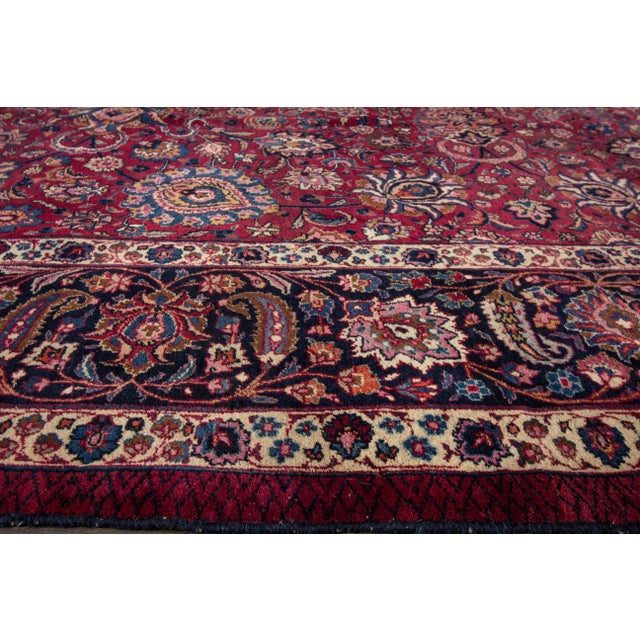 """Apadana - Antique Distressed Persian Mashad Rug, 11'11"""" x 15'5"""" For Sale In New York - Image 6 of 7"""