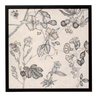 Fleurs Effilées #1, Fine Art Giclée on Canvas, Framed For Sale