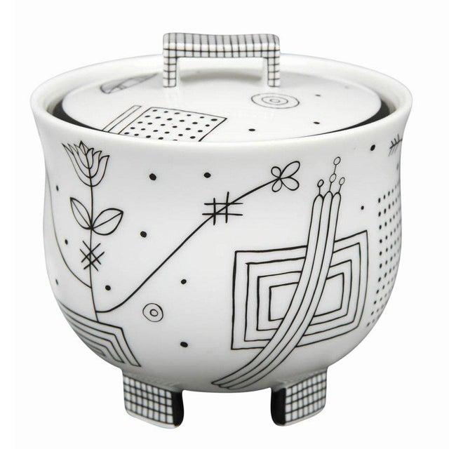 "Josef Hoffmann ""Mythos"" Covered Sugar Bowl by Josef Hoffmann For Sale - Image 4 of 4"