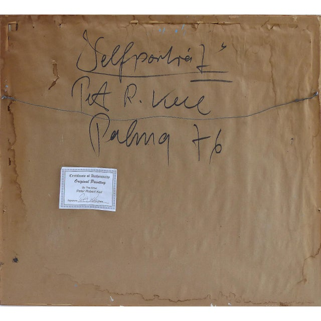 1976 Self Portrait Painting by Peter Keil For Sale In Miami - Image 6 of 9