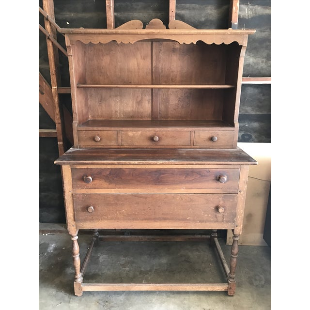 Antique Wood Hutch - Image 2 of 6