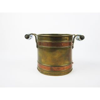 Vintage Copper/Brass Cache Pot With Delft Handles Preview