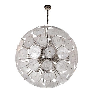 Spectacular Modernist Vistosi Disc Sputnik Chandelier For Sale