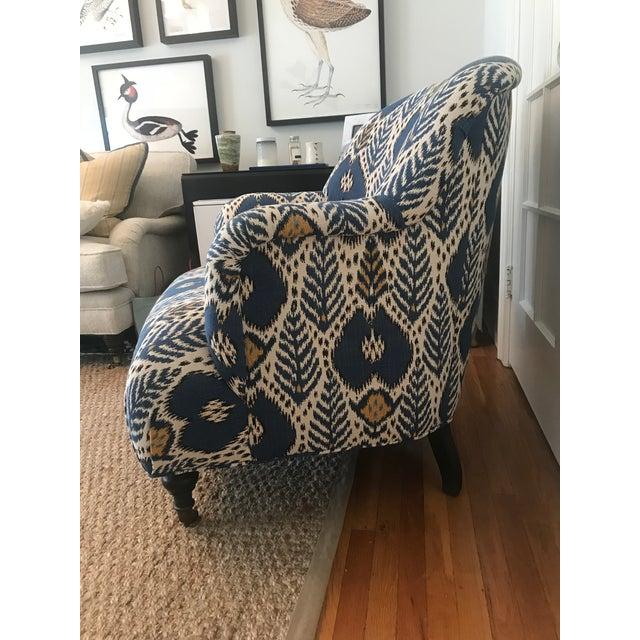 Brunschwig & Fils Upholstered Arm Chair For Sale - Image 4 of 6