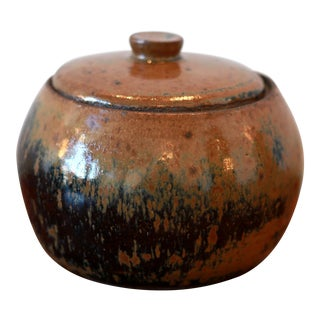 Handmade California Studio Pottery Ceramic Jar & Lid