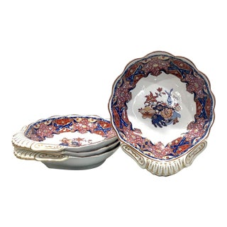 Spode Frog Pattern Shell Dishes, England Circa 1820 For Sale