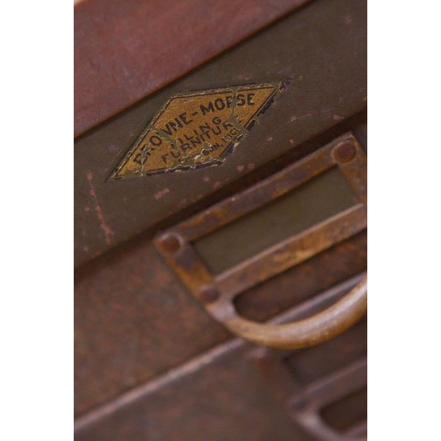 1940s Industrial Browne-Morse Filing Cabinet For Sale - Image 6 of 10