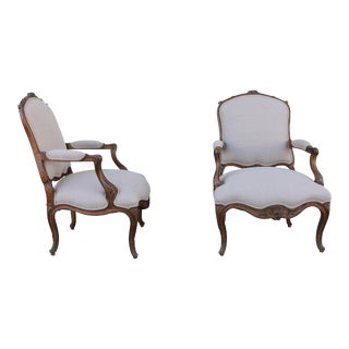 Italian Bergère Chairs - a Pair For Sale