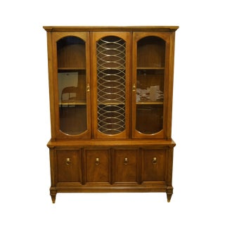 Italian Neoclassical Tuscan Style China Cabinet For Sale