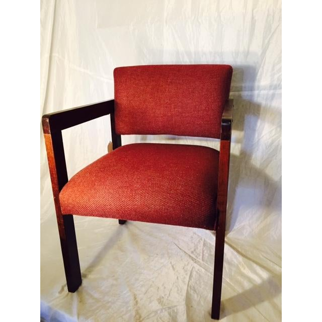 1970's Style Wood and Upholstered Chair - Image 3 of 6