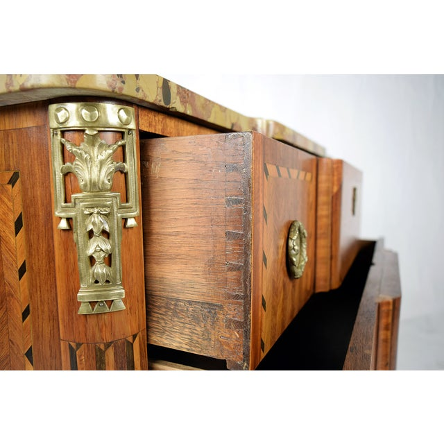 19th Century French Louis XVI Marquetry Dresser - Image 6 of 10