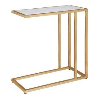 Echelon Sofa Hugger Table in Natural Brass For Sale