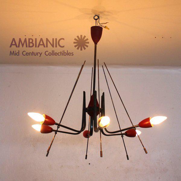 Mid-Century Modern Italian Sputnik Chandelier For Sale - Image 9 of 10