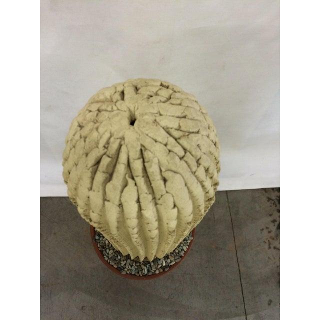 Mid-Century Concrete Cactus Sculpture - Image 4 of 7