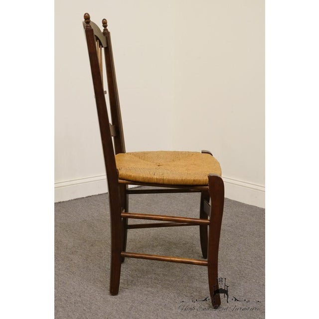 Wood 20th Century Early American Solid Cherry Wheat Back Dining Side Chair For Sale - Image 7 of 8