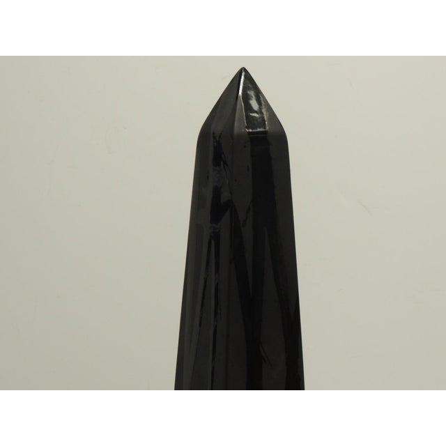 Tall Black Obelisks - A Pair - Image 5 of 5