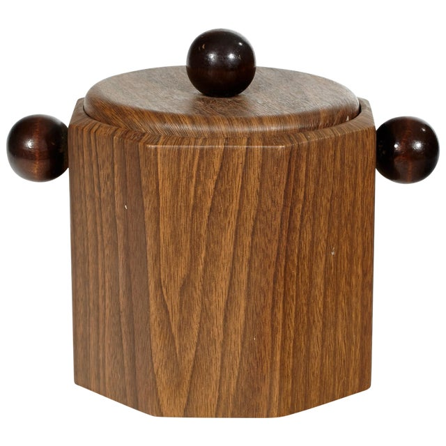 1960's Wood-Grain Ice Bucket - Image 1 of 4