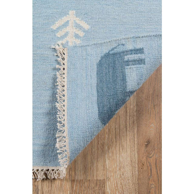 "Erin Gates by Momeni Thompson Porter Blue Hand Woven Wool Area Rug - 3'6"" X 5'6"" For Sale In Atlanta - Image 6 of 9"