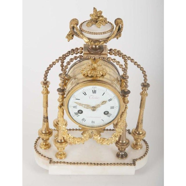 18th Century 18th Century Gilt Bronze French Portico Clock For Sale - Image 5 of 12