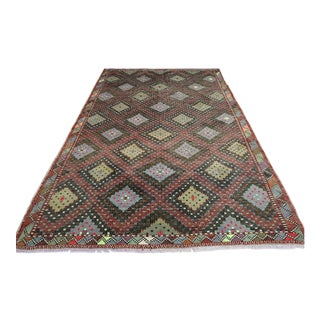 Mid 20th Century Turkish Antalya Nomads Embroidered Rug- 6′5″ × 9′10″ For Sale