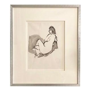Vintage Nude Drawing by John Alfred Begg, Framed For Sale