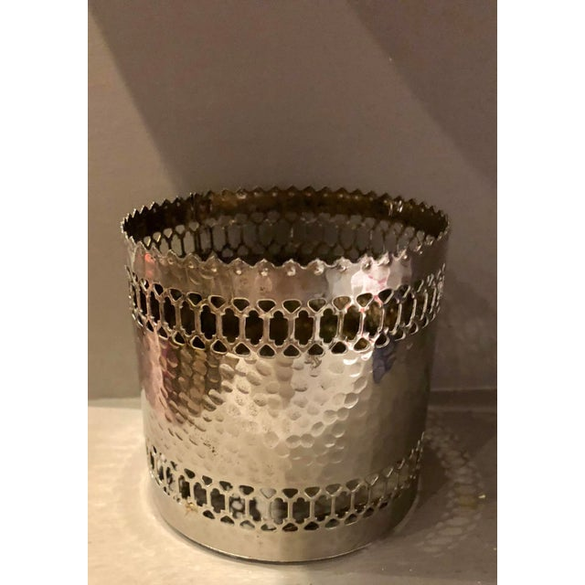 Silver Pierced Bottle Coaster For Sale In Miami - Image 6 of 6