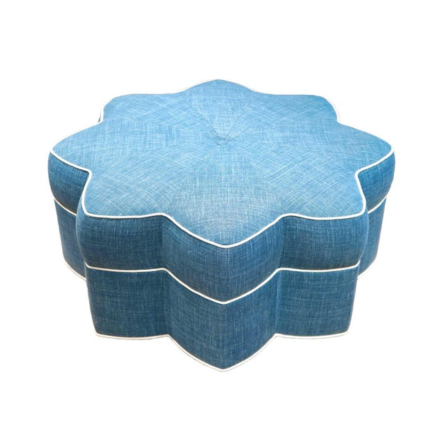 """This whimsical star-shaped ottoman was designed by the team behind """"the GUSSIE,"""" the popular design podcast and Greenwich,..."""